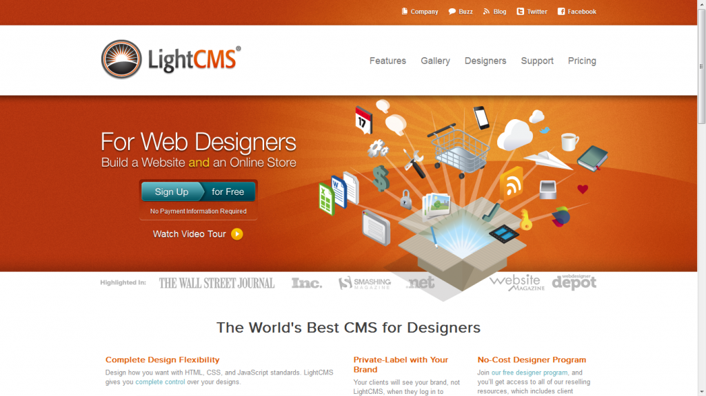 Light CMS White Label