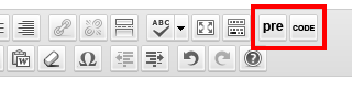 Toolbar buttons