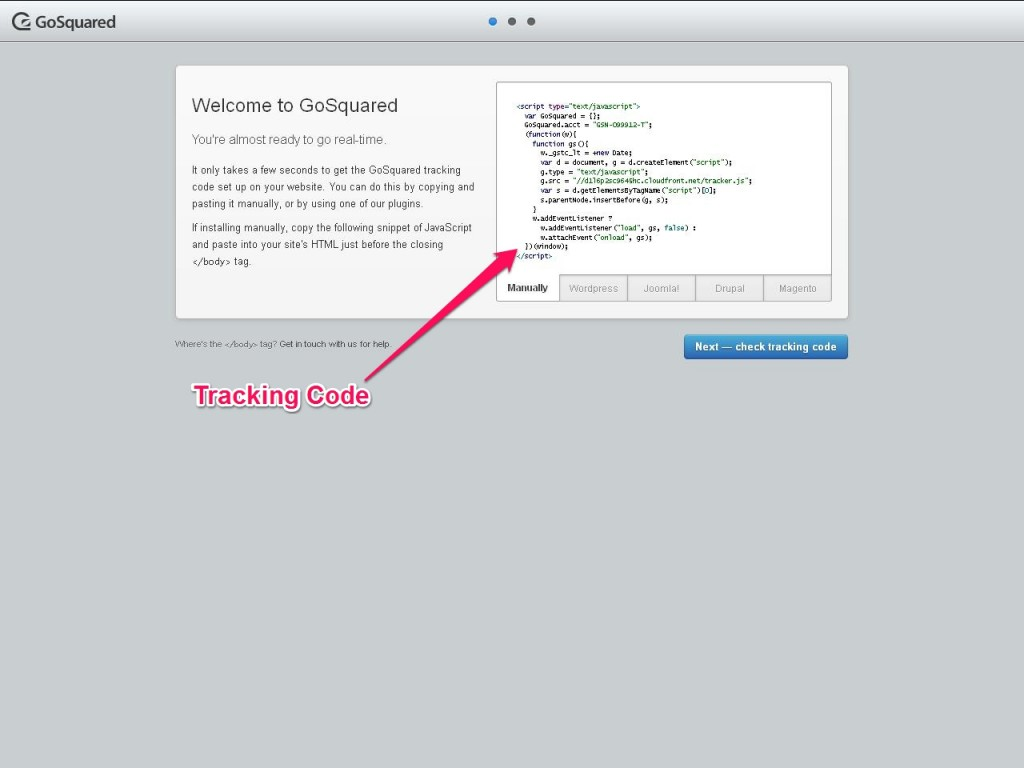 Go Squared Tracking Code - Weebly